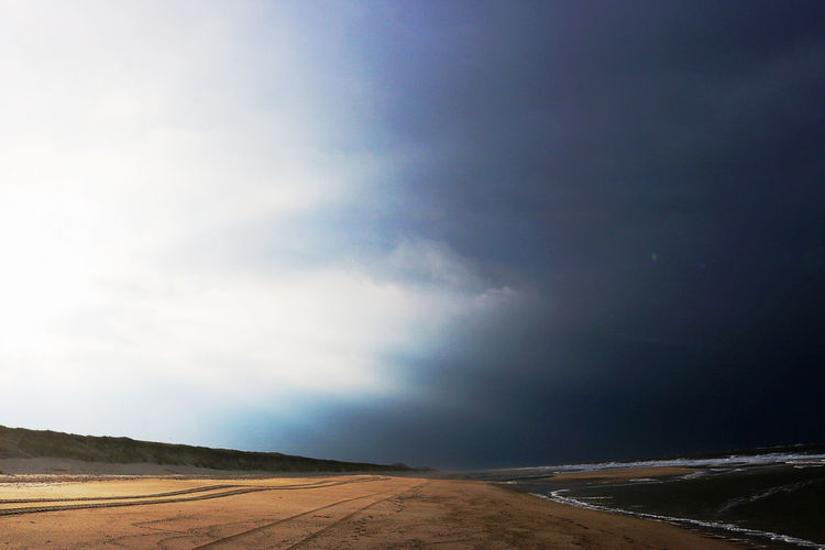 Weather Beach Beauty In Nature Coast Landscape Nature North Sea Outdoors Sea Thunder Storm Tranquil Scene