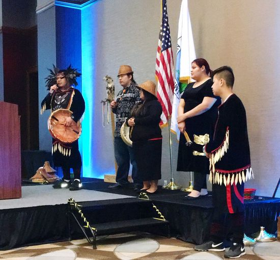 Black hawk singers at fund raiser event