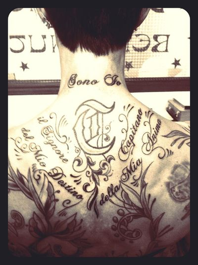 My Back Completed