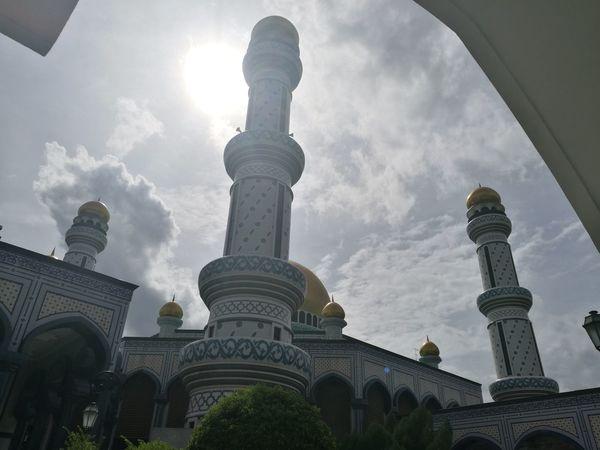 Masjid Jame' Asr Hassanal Bolkiah, Brunei Dome Travel Destinations Sky Place Of Worship Outdoors Day Brunei Darussalam Brunei Architecture Cityscape