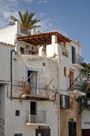 Dalt Vila. Ibiza. Dalt Vila Eivissa Ibiza Old Town World Heritage Palm Tree Tree Sky Architecture Built Structure