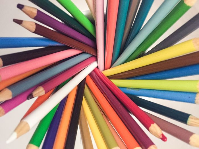 Full Frame Shot Of Colorful Pencils