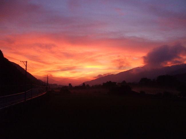 Iwate Japan Sunrise Tohoku Tono 岩手 朝焼け 東北 遠野