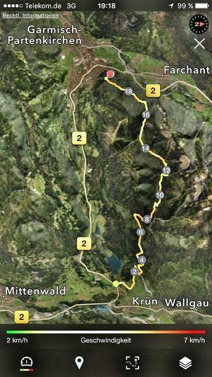 On A Hike Track Map Gapa1516