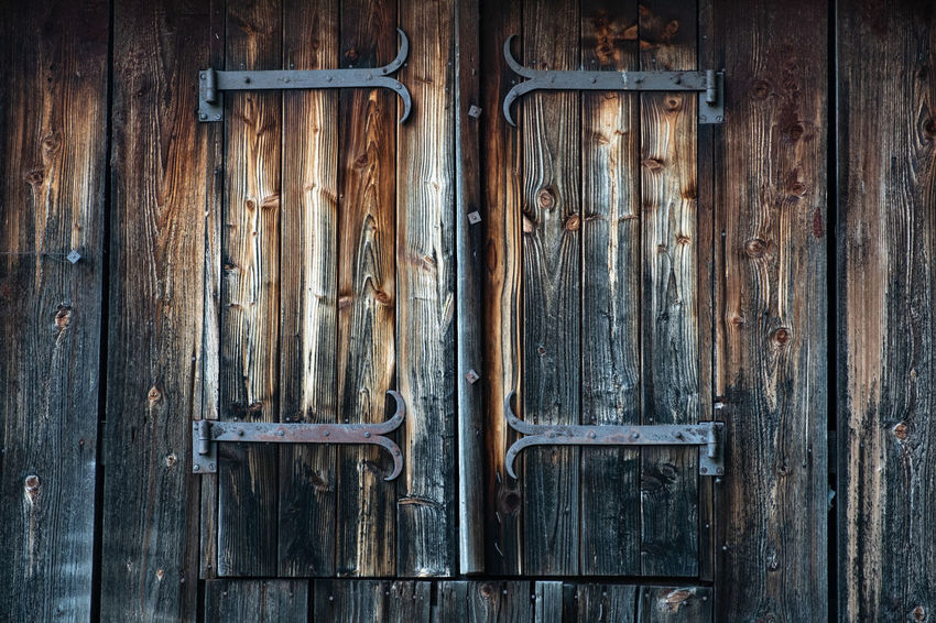 Backgrounds Brown Close-up Closed Day Deterioration Door Entrance Full Frame Latch Lock Metal No People Old Pattern Protection Safety Security Textured  Weathered Wood Wood - Material