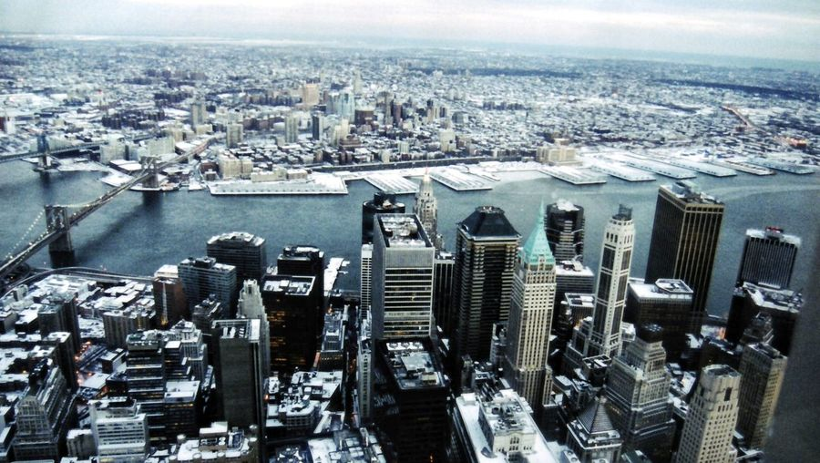 NEWYORK New York Newyorkcity Snow NewYear Wintertime Winter Snowscape Snowday Aerial View Built Structure Building Exterior No People Urban Skyline