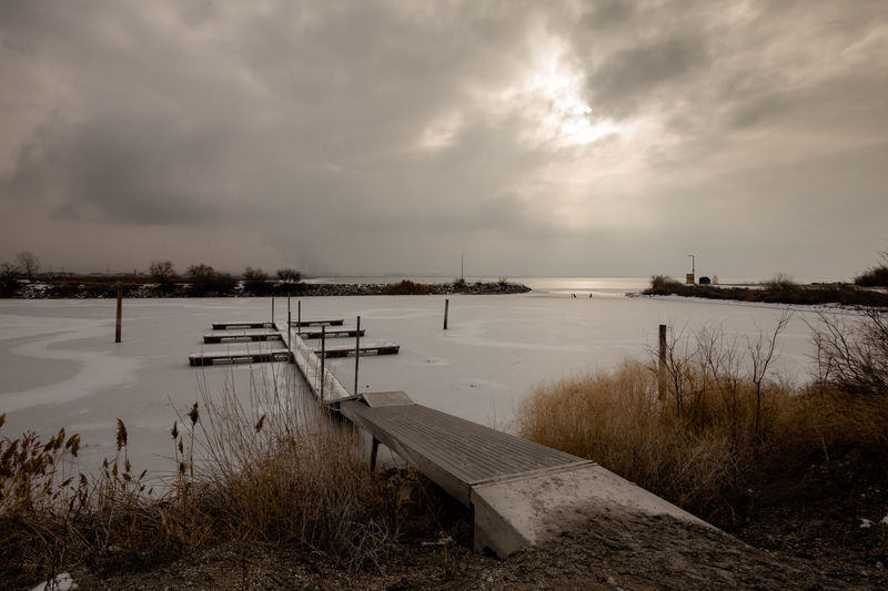 Landscape Lake Water Nature Extreme Weather Tranquility Outdoors Storm Cloud Utah Lake Winter
