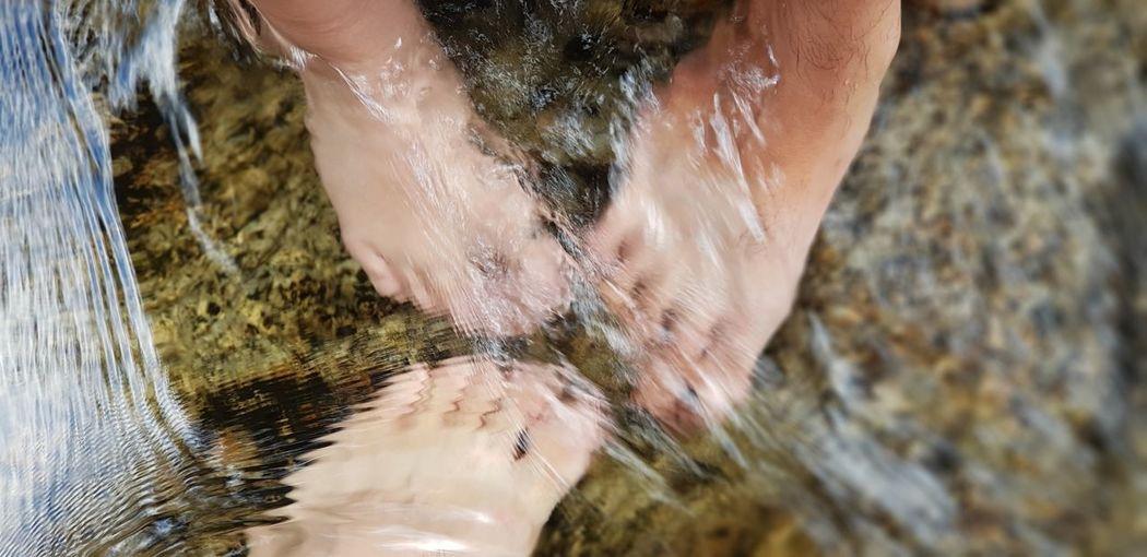 swimming feet.