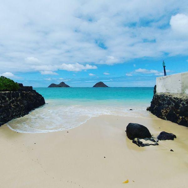 Mokulua Islands. Lanikai, Kailua, Hawaii. Beautiful Hawaii Kailua  Mokuluas Beach Oahu Honolulu  Lanikai  TheMokes Island Pacific Openwater TheGreatOutdoors Polynesian Travel Vacation Summer2016 Aloha Mahalo