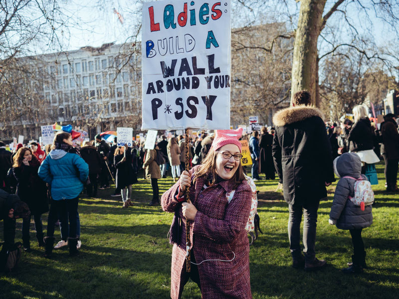 Women's March On London Police said 100 000 people attended. It was fantastic even, charged with such positive energy of most fabilious 100 000 Londoners who made this day a history. Full set of photos is here http://maxgor.com/street-photography/womens-march-on-london/ Streetphotography Real People Cıty Street Photography Rawstreets Maxgor Prime Lens Maxgor.com 35mm Lifestyles Olympus Pen F Olympus Pen-f People Women Women March Women March On London Photojournalism Uniqueness