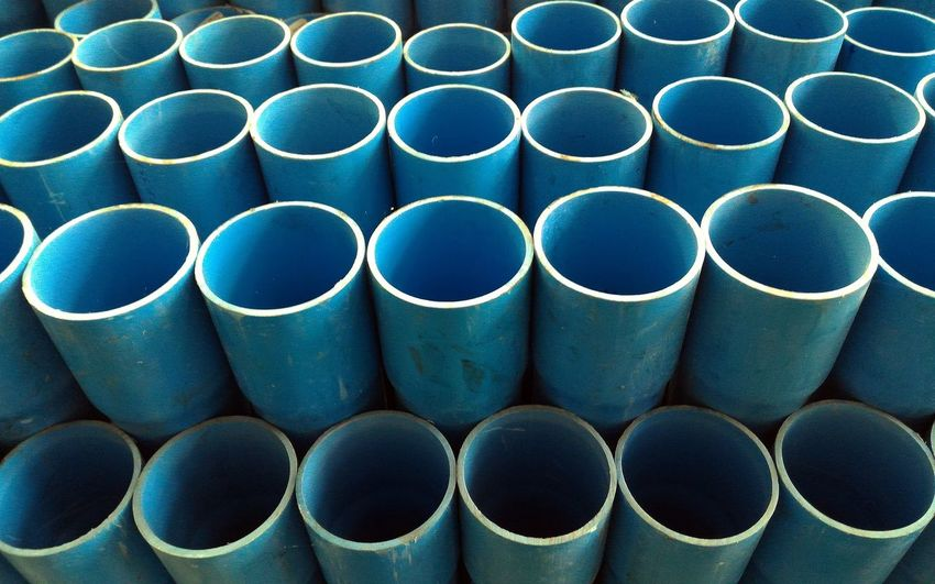 Dirty Group Pvc Pipe Pipe - Tube Blue Backgrounds Background Industry Industrial Large Group Of Objects Backgrounds Stack Water Pipe