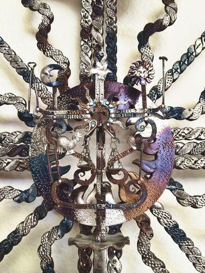 Chiapas's amazing regional art Fabiola Arista Photo ArtWork Sancristobal Metal Cross