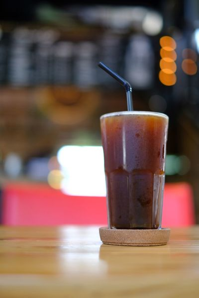 Iced Americano Icedcoffee Americano Coffee EyeEm Selects Straw Drinking Straw Drink Food And Drink Glass Refreshment