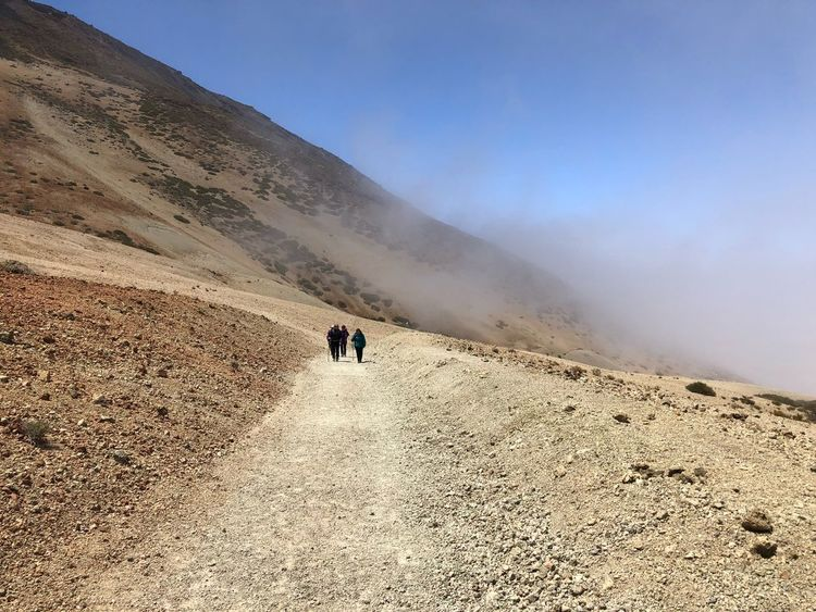 Hiking, Teide National Park, Tenerife 🇪🇸 Nofilter Teide National Park Mount Teide Volcano Teide Tenerife SPAIN Cloud - Sky Rock - Object Hiking Scenics - Nature Sky Land Beauty In Nature Real People Desert Nature Mountain Travel Landscape Tranquility Leisure Activity