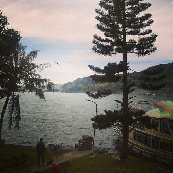 Toba Lake view from my private room. Taking Photos Panorama Lake View Toba Lake