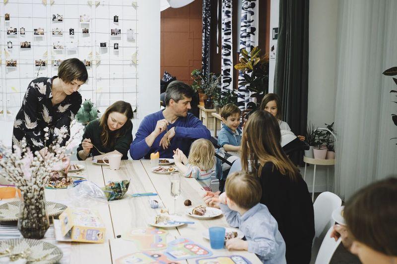 Birthday Party Birthday EyeEm Selects Group Of People Real People Sitting Men Indoors  Women Table Group Medium Group Of People