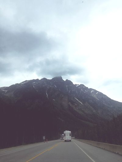 Mountain Snow Winter Road Road Trip Car Cold Temperature Snowing Fog Highway