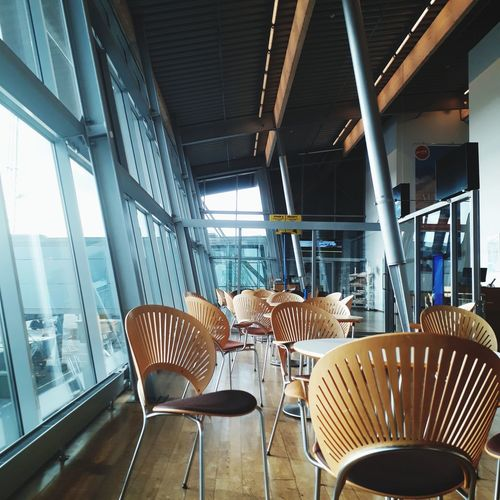 Travelphotography Billund Airport No People Chair Indoors  Loneliness My Point Of View Chose One Relaxation On My Way Day