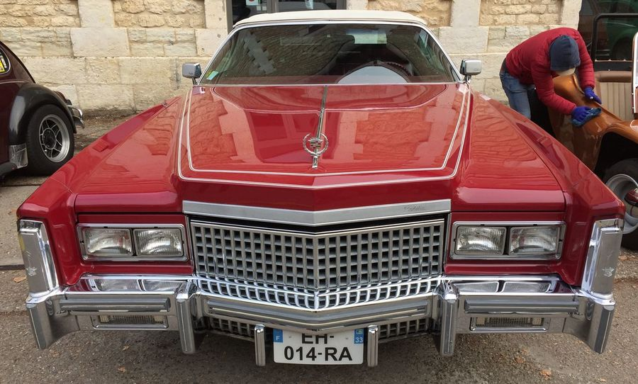 Vroum ! Vintage Land Vehicle Red Retro Transportation Car Day Outdoors Adults Only Adult One Person Only Men People