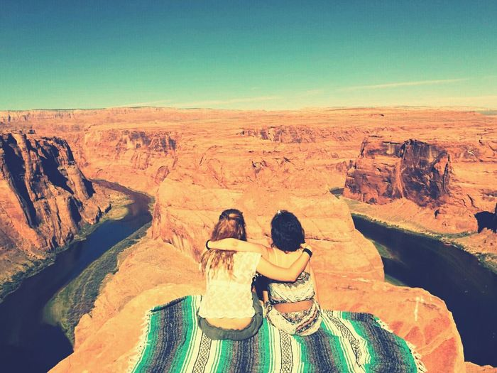 Friendship Miles Away Vacations Adventure Eme EyeEm Nature Lover Utah Scenery Nature Horseshoe Bend Miles Away First Eyeem Photo