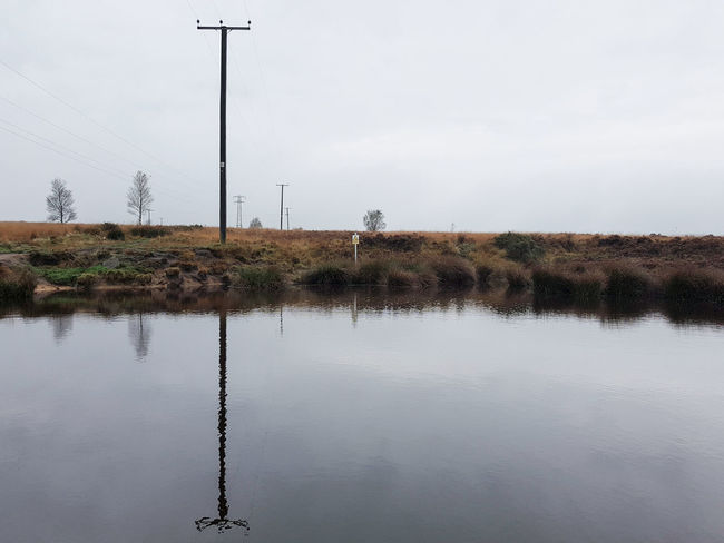 Reflection Water Lake No People Day Landscape Outdoors Sky Flood City Nature Pool Telegraph Pole Fog Mania Fog Landscapes Beauty In Nature Yorkshire Heather Country Nature Scenics Reflection Norland Moor Moorland Connected By Travel Lost In The Landscape