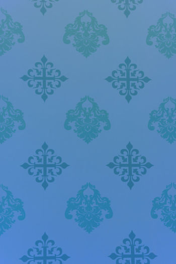 Vintage Wallpaper - Historic Pattern from 18th century Ancient Backgrounds Blue Close-up Decoration Design Fleur De Lys Floral Pattern Full Frame Illustration No People Nostalgia Ornament Ornate Pattern Repetition Retro Retro Styled Seamless Pattern Symmetry Tapestry Textured  Textures And Surfaces Vintage Wallpaper