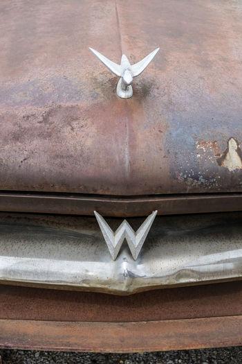 Car Emblem  Rusty Transportation Vintage Cars Willy