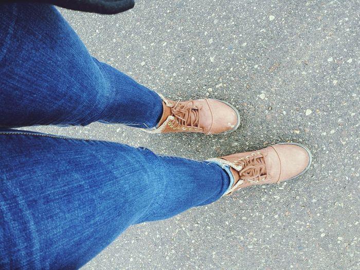 Fashion Jeans Boots Lookingdown Legshot Peace Photography