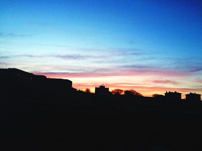 вечер небо Розовое небо Закат Севастополь Крым Дикая Омега No People Sky