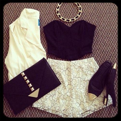 Black & White Black And White Fashion Look