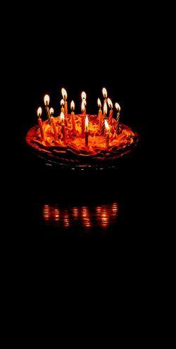 Illuminated Night Holidays Nightphotography Overnight Success Home Birthday Candles Candles Cake Cake Cake Birthday Celebration