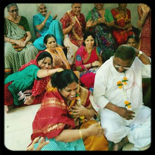I wanted to share this moment with all of u. This picture is so special that I cant even begin to say. Firstly, it was not at all planned because last week a bunch of women & my mom from the building requested dad to attend a pooja in our vicinity because it was a very holy day. And in the process they got a chance to renew their vows in Indian style. So here it is. 32 years and counting. THE HOLY GRAIL OF MARRIAGE. ♥