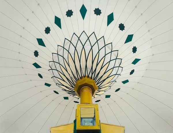 Low Angle View Yellow Day Architecture No People Outdoors Close-up Big Umbrella Be. Ready. Mosque Togetherness Building Exterior Travel Destinations Built Structure History EyeEmNewHere