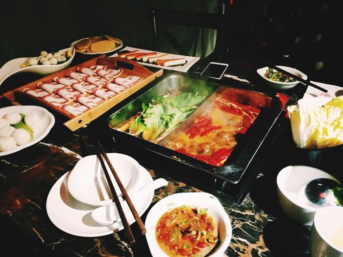Hot Pot Night Shanghai, China Happy People Bestfriend Vscocam #vsco IPhone EyeEm lovely day!!!😘😘😘