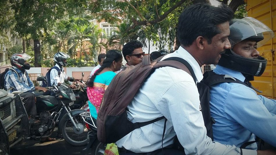 My Commute Transportation Transport Busy Two Wheels Traffic Motorcycles Street Photography Chennaiphotography Chennai India Helmet Helmets