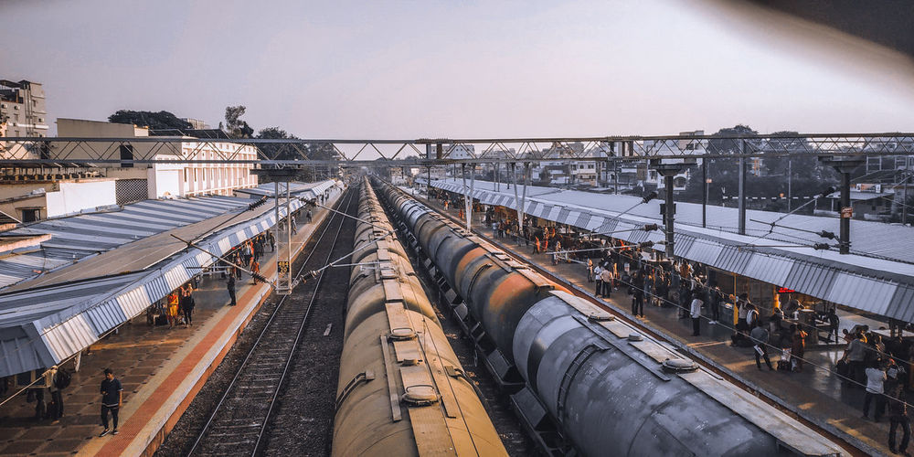 Oil transportation to industries through railway
