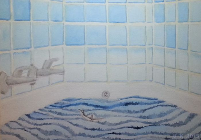 Storm in the bathtub - my newest watercolour painting EyeEm Gallery Check This Out Showing Why I Could Be An Open Editor No People My Art Watercolour Watercolor Painting Germany🇩🇪 Now Online