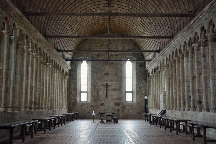 Interior of Mont Saint-Michel