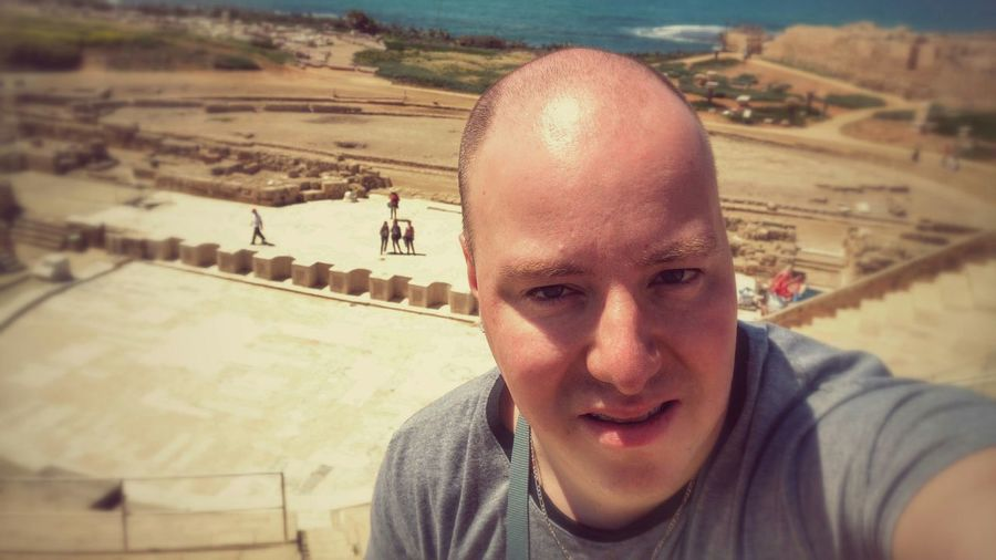 That's me... Caesarea That's Me Holiday Archeology Vaccation Israel Roman Anphitheater  Ceasarea Herodot ThatsMe