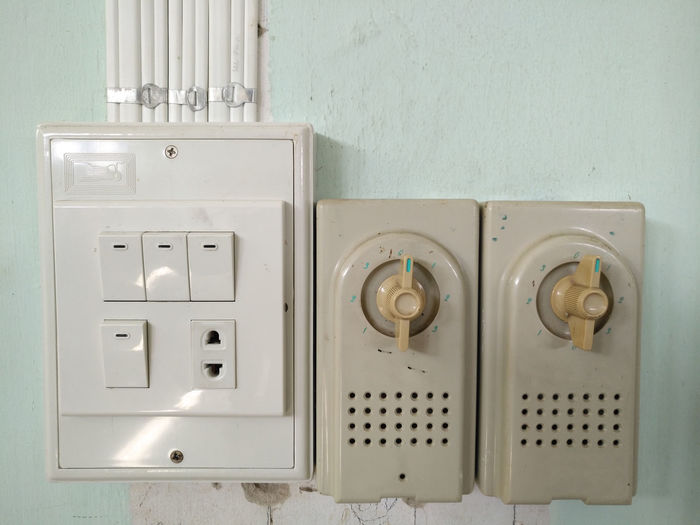 Close-Up Of Electric Switch