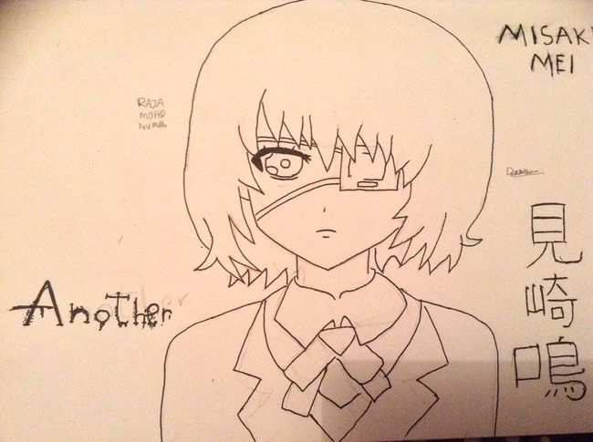 Drawing Misaki Mei <3 <3 <3 Anime OtakuAnime AnimeDaisukiForLife Drawing KAWAII