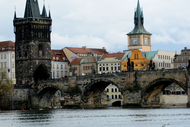 Low Angle View Of Charles Bridge Against Sky