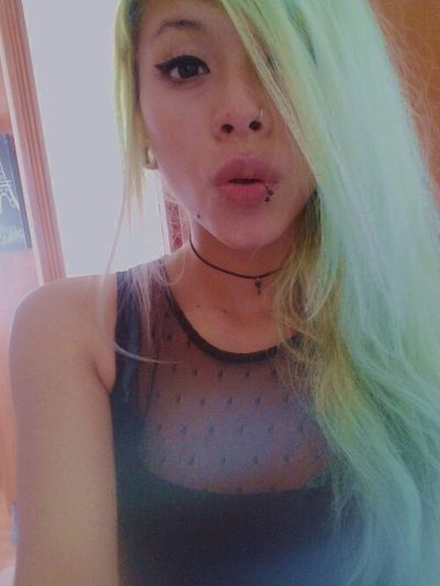 That's Me Enjoying Life Relaxing Dyed Hair Colorful Coloredhair First Eyeem Photo Porcelain Doll Cute♡ Grunge Girl