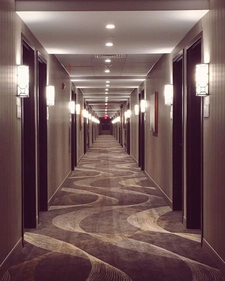 Finding your way Corridor The Way Forward Indoors  Illuminated No People Architecture Leading Lines Leadingpaths Hotel