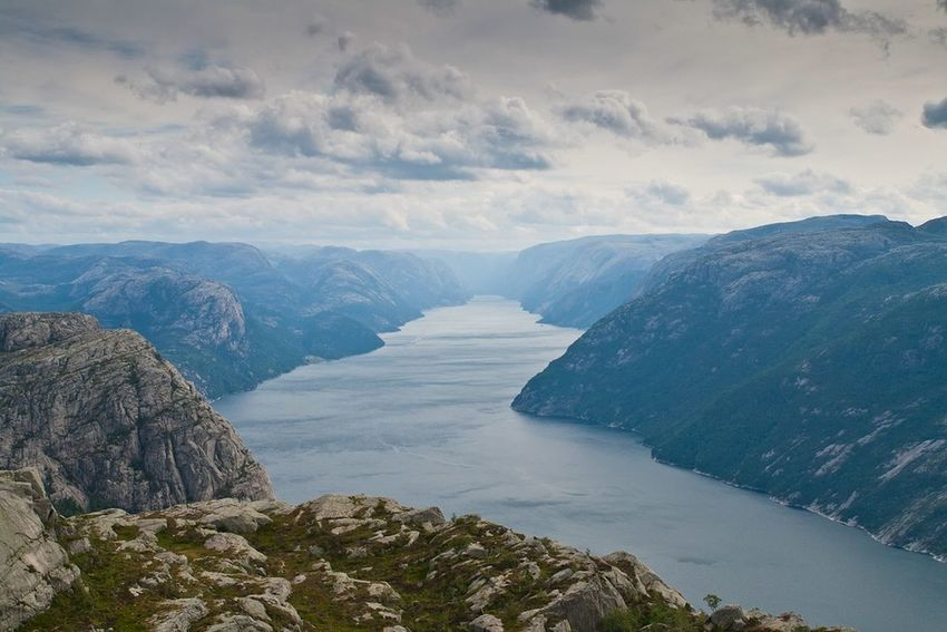 Fjord Landscape Landschaft Lysefjord Preikestolen