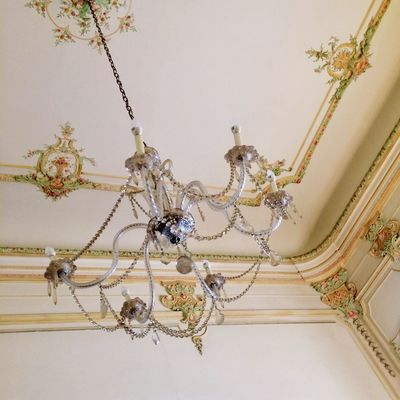 Indoors  No People Close-up Pattern Decoration Wall - Building Feature Chandelier Lighting Equipment Built Structure