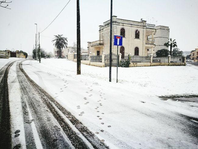 Snow Winter Cold Temperature No People Sky Love ♥