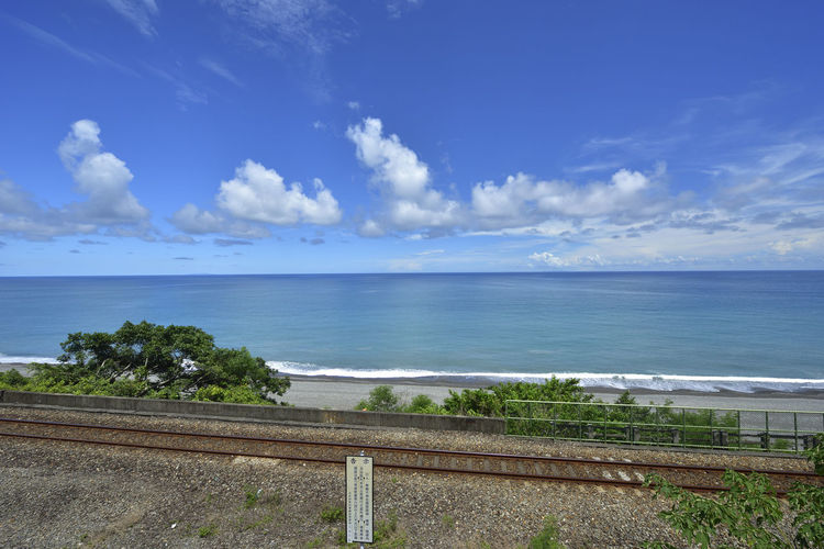 Taiwan's eastern coastline scenic area, is a station Taitung station is the coastline of the most beautiful scenery of a small train station. Holiday More Station White Clouds Beach Beautiful Coast Beauty In Nature Blue Blue Sky Cloud - Sky Day Horizon Horizon Over Water Journey Nature No People Outdoors Railway Scenics Sea Sky Train Station Tranquility Water