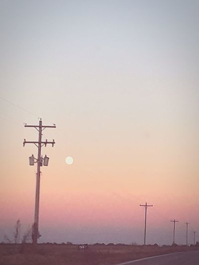 day 12 ❤❤❤❤❤❤❤❤❤❤❤❤❤❤❤❤❤ 💋💋💋❤️❤️❤️ Beautiful Sky❤ 😘😍❤💕👀 Clear Sky Sunset Sunlight Moonrise Moon Moonlight Moonphotography Technology Sunset Clear Sky Winter Fuel And Power Generation Silhouette Sky Electricity Pylon Power Line  Traditional Windmill Telephone Pole Telephone Line Power Cable Industrial Windmill Wire