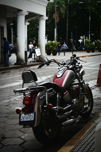 Motorcycle Street Photography Red Day